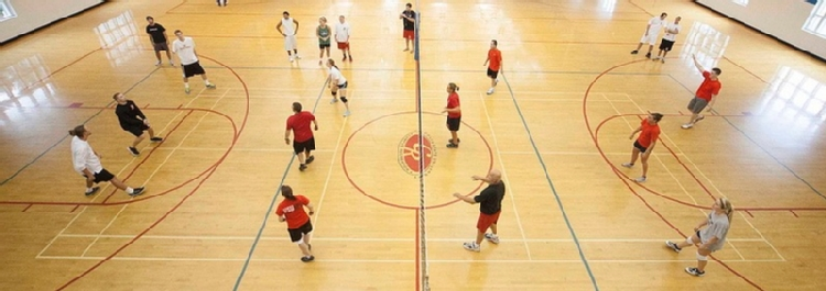 Volleyball game at Campus Recreation Center